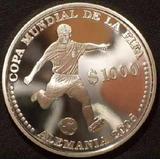 Ch Uruguay Moneda $1.000 Mundial Alemania 2006 Plata Proof