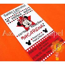Minnie Mickey Mouse Invitaciones Cumpleaños Personalizada