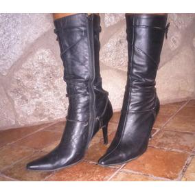 Botas Stilettos De Cuero