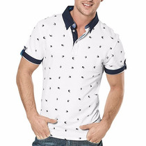 Playera Polo Jgl 258 Blanco-mar Pv