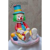 Payaso En Porcelana Fria - Adorno Para Torta 24 Cm