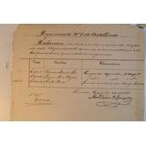 Documento Rejimiento N 1 Artilleria. Lima. Valparaiso 1881