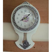 Relógio Parede Pendulo Sx Quartz Madeir Novo Garantia 3 Anos