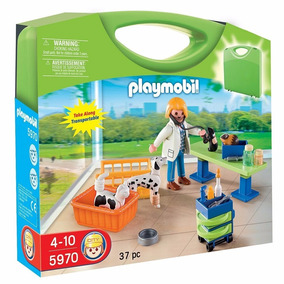 Retromex Playmobil 5970 Maletin Veterinaria Clinica Ciudad