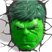 Hulk Lámpara De Noche 3d Marvel