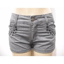 Shorts Jeans Cinza Dona Florida Tam 38 Ótimo Estado