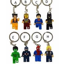 Chaveiro Vingadores Hulk Batman Superman Wolverine Comp Lego