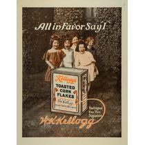 Lienzo Tela Publicidad Kellogg Corn Flakes 1912 70 X 50 Cm