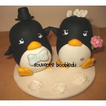 Adorno De Torta De Un Pinguino