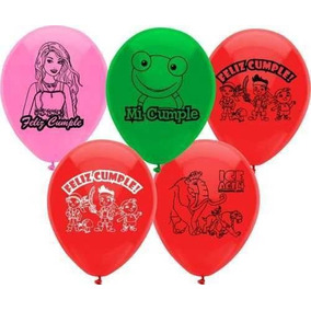 Globos De Latex Cars ;sapo Pepe ; Many , Kitty Con Helio