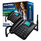 Telefone Aquario Rural Fixo P/ Sítio Ca-40 3g, Viva-voz, Sms