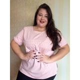 Blusa Feminina Plus Size Tamanhos Especiais Moda Jovem G4