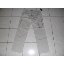 Pantalon Michael Kors 34x34 Con Cierres Tipo Cargo