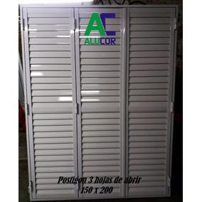 Postigon De Aluminio 150x200 3 Hojas