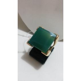 Anel Semi Jóias Com Pedra Natural Brasileira Quartzo Verde