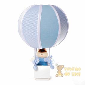 Abajur/ Luminária Balão Boneco Menino Quarto Bebê E Infantil