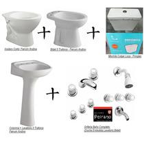 Baño Combo Super Completo Sanitarios Griferias Accesorios