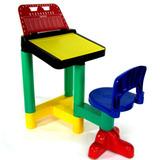 Carteira Legal Mesa Infantil Com Cadeira 7600 - Braskit
