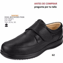 Zapatos Bio Shoes Para Caballero Negro Diabetes Comfort I