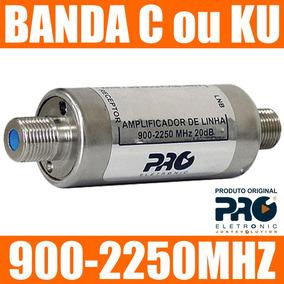Amplificador Sinal Satelite Parabolica Banda C Ou Ku 20db
