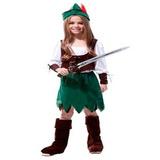 Fantasia Infantil Feminina Peter Pan M 1,10 A 1,20
