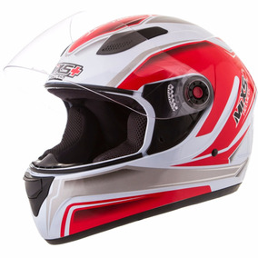 Capacete Moto Mixs Fokker Attack Gray/red
