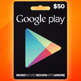 Google Play Gift Card $50 Android Smartphone Tarjeta Prepago