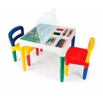Mesa Didática Mesinha Infantil Poliplac Com 2 Cadeiras Promo