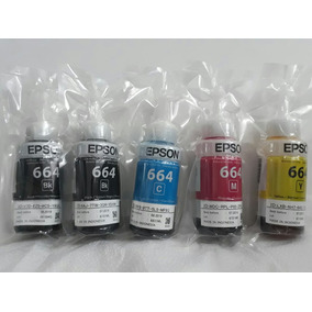5 Tintas Original Epson L375 L220 L355 L365 L565 L800 L1300
