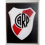 Cuadro. Escudo Futbol River Plate. En Madera C/relieve.