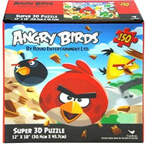 Juego Angry Birds 150 Pieza Del Rompecabezas 3d De Super 12