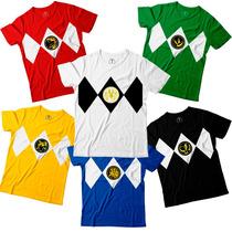 Kit 5 Camisetas Power Rangers Top
