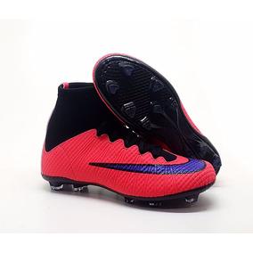 Chuteira Nike Campo Mercurial Botinha Trava Transparente