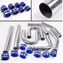 Tuberia Intercooler Aluminio 2.5 Coples Silicon Turbo
