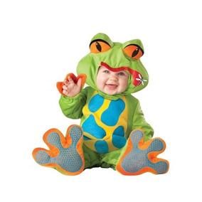 Disfraz Bebe Rana Sapo Niño Niña Halloween Ranita Sapito