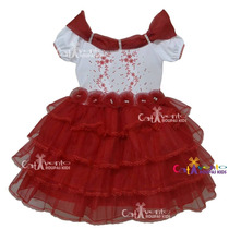 Vestido De Festa Infantil Dama De Honra Com Tiara De Brinde