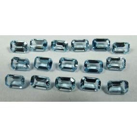 Topázio Azul Clarinho Ret 6x4 Mm - Preço Unitário