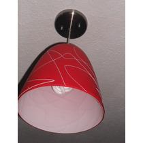 Lampara Decorativa De Plafon Color Roja Veracruz Ver