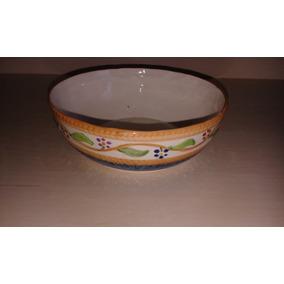 Lindo Bowl Porcelana Arrancada - Portuguesa Pintado A Mão