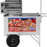 Carrinho De Pizza Armon Cpcl-018 Pizza Grande E Pizza Cone