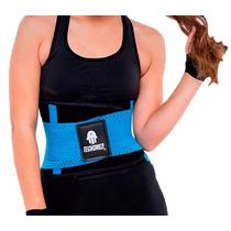 Faja Cinturilla Tecnomed Belt Fitness Turquesa Colombiana