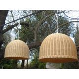 Lámparas De Rattan Natural ( Fibra De Caña)