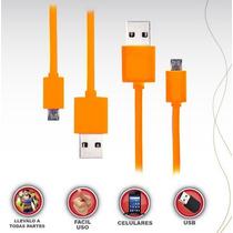 Cable De Datos Usb V8 Para Samsung, Nokia, Lg, Sony