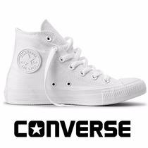 Tênis Converse All-star Botinha Monochrome Lona Branco