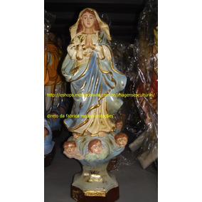 Escultura 25cm Barroca Nossa Senhora Conceição Linda Imagem