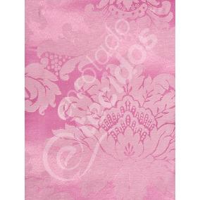 Tecido Jacquard Rosa Brocado 1 X 2,8m Painel Festa Peppa Pig
