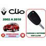 02-10 Renault Clio Carcasa Control Alarma 2 Botones Llave