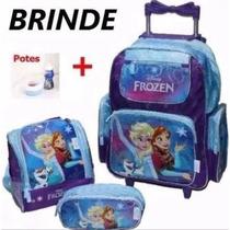 Mochila Infantil Escolar Frozen Original Rodinha, Resistente