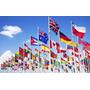Paquete De 3 Banderas Del Mundo, Previo Acuerdo 90x150cm C/u