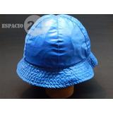 Sombrero Para Lluvia Impermeable Color Celeste Forma Piluso 49e2512a60b